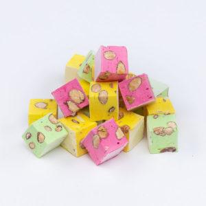 Nougat La Linoise cube couleurs