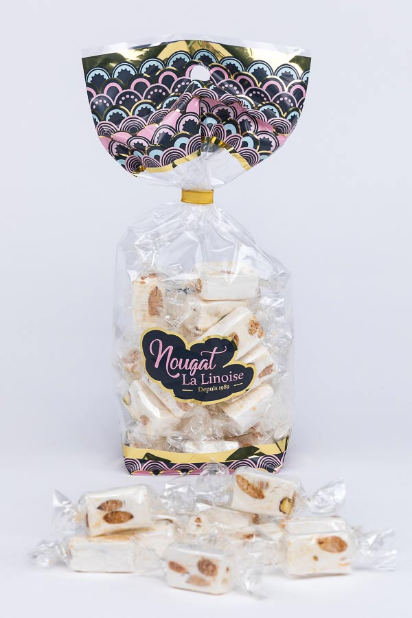 Nougat - Papillotes amandes miel caramel